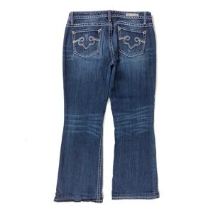 REROCK for Express Women's Boot Jeans Stitch